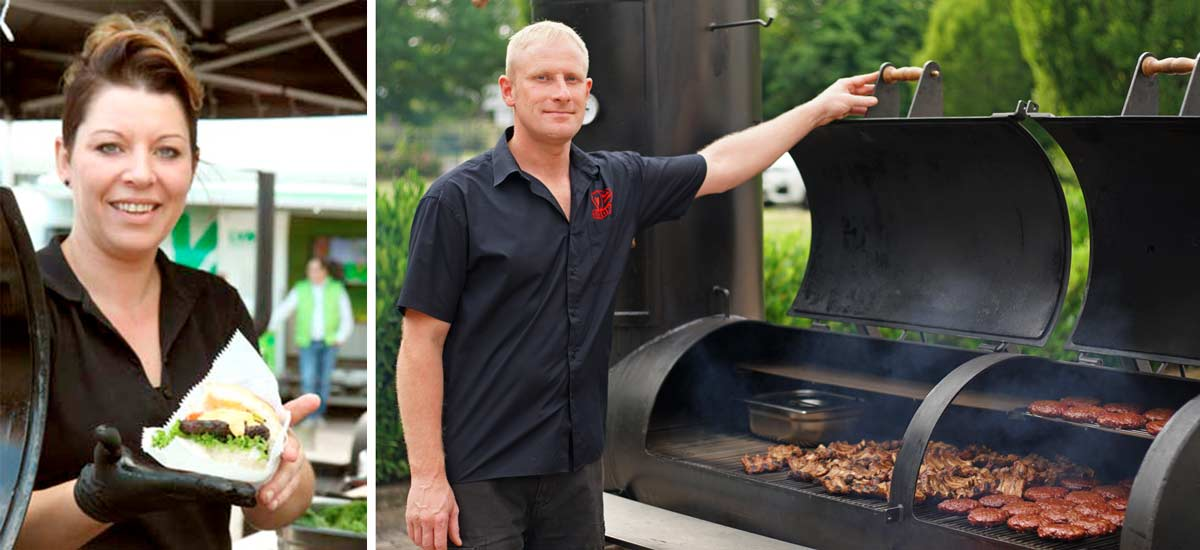 MB Smoker Verleih und Catering in aktion